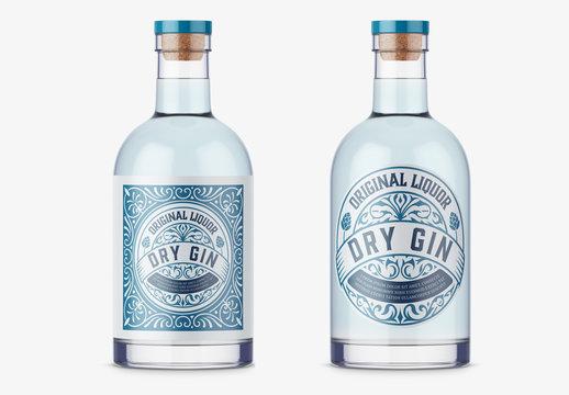 Vintage Gin Label Layout