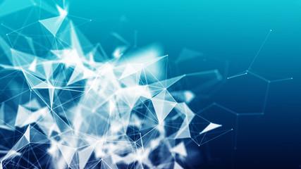 abstract blue plexus background