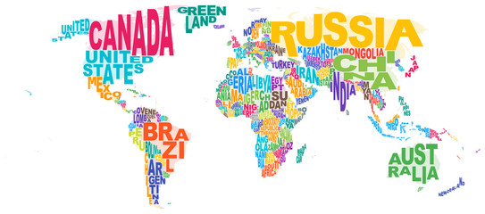 World Map Word Cloud