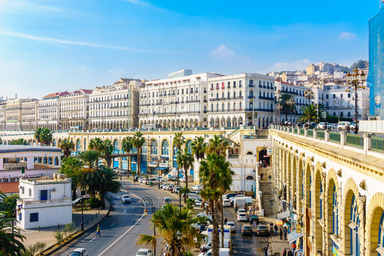 Algeria view of the waterfront from the Admiralty, Algiers