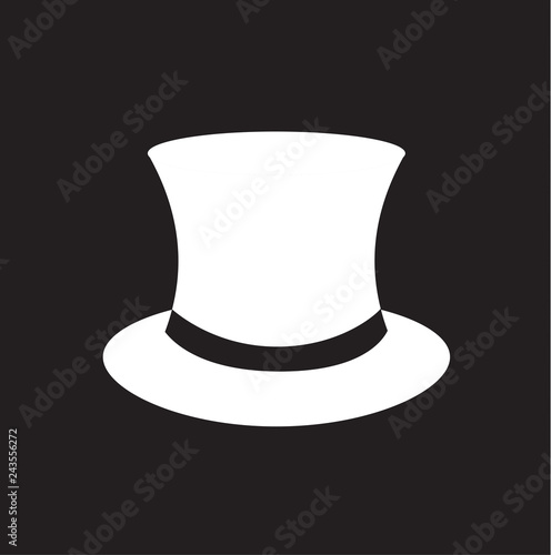 c2697104d3d Fashion hat. Women s black hat with bow. Lady retro hat. Vector illustration .