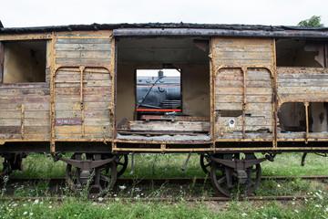 Old and historic railway wagon