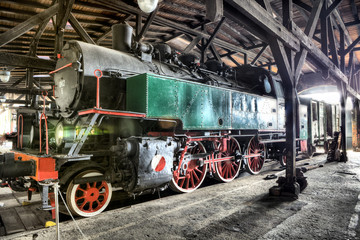 An old and historic steam locomotive