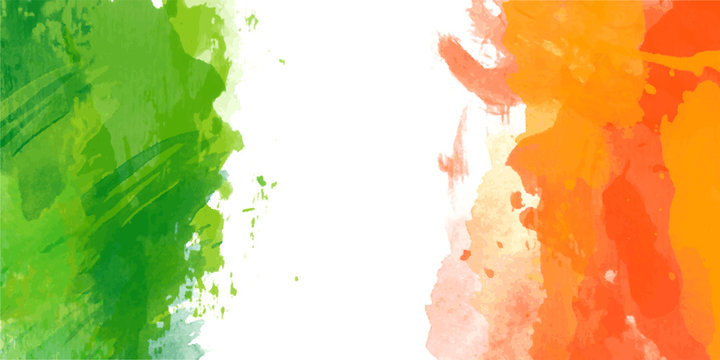 Vector watercolor flag of Ireland for Patricks day