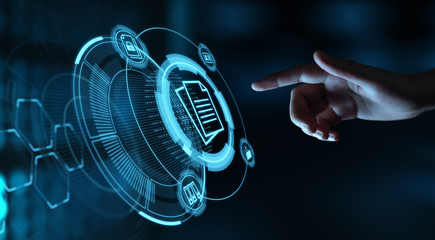 Document Management Data System Business Internet Technology Concept Wall mural