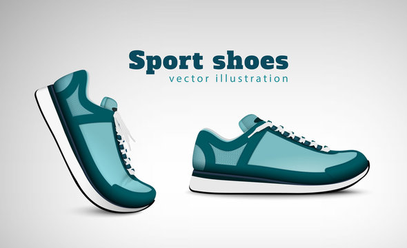 Sport Shoes Realistic Composition