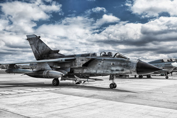A fighter military plane