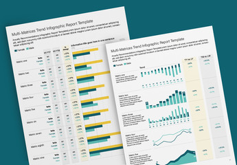 Multiple Metric Report Infographic Layout