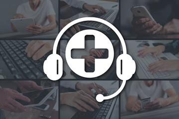 Concept of online medical support