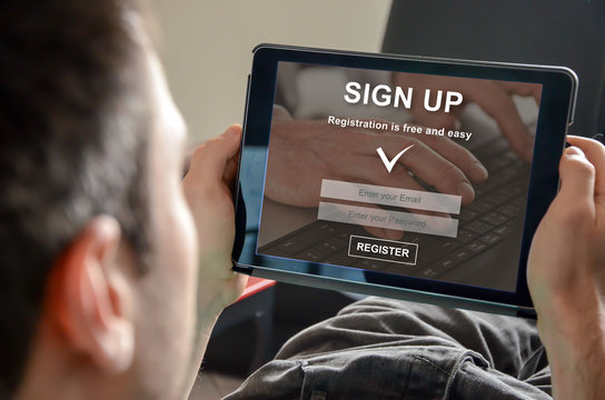 Concept of sign up