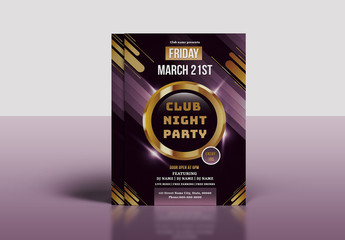 Night Club Party Flyer Layout