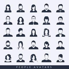 Simple avatar icons
