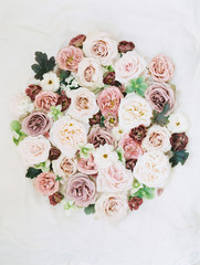 Overhead view of bouquet