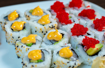 Sushi Roll most famous Japanese food