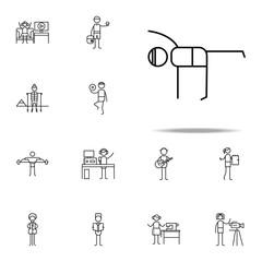 yoga icon. hobbie icons universal set for web and mobile