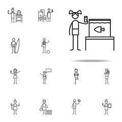 aquaristics icon. hobbie icons universal set for web and mobile