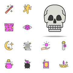 skull icon. magic icons universal set for web and mobile