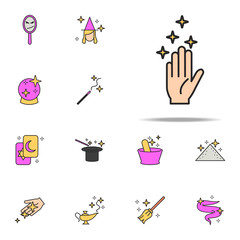 magic hand icon. magic icons universal set for web and mobile
