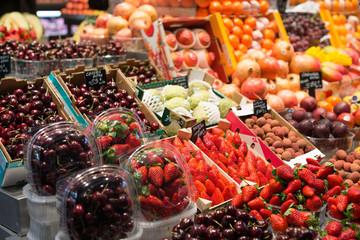 Barcelona market of the boqueria