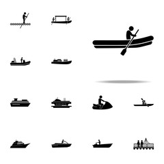 boat, air icon. water transportation icons universal set for web and mobile