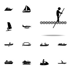 raft, wooden icon. water transportation icons universal set for web and mobile
