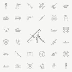 mortar icon. Army icons universal set for web and mobile