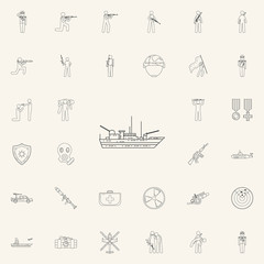 warship icon. Army icons universal set for web and mobile