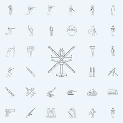 helicopter icon. Army icons universal set for web and mobile