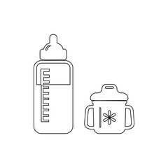 bottle for feeding a child icon. Element of cyber security for mobile concept and web apps icon. Thin line icon for website design and development, app development