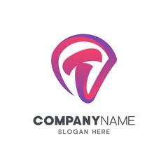 initial letter T logo design