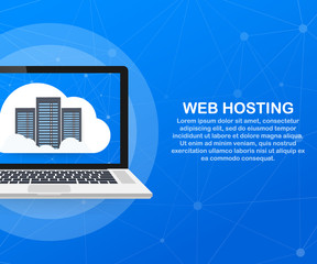 Web hosting concept with cloud computing icons design. Vector illustration.