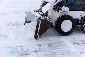 Skid steer snow Wall mural