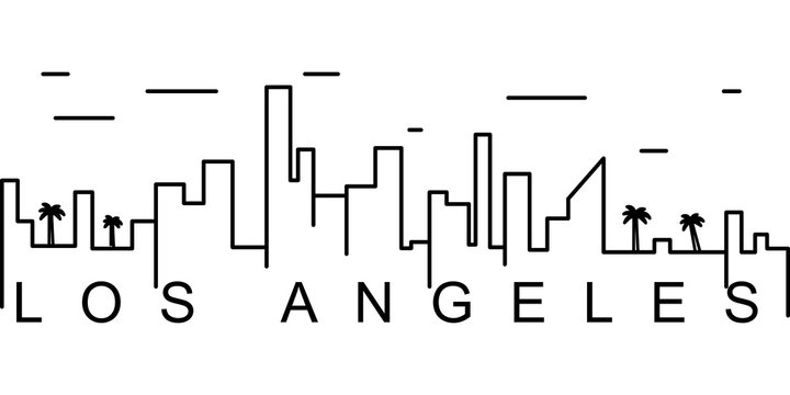 Los Angeles outline icon. Can be used for web, logo, mobile app, UI, UX