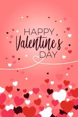 Happy Valentine Day Greeting Card Illustration
