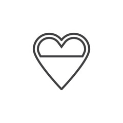 Heart love level line icon. linear style sign for mobile concept and web design. Love heart energy outline vector icon. Symbol, logo illustration. Pixel perfect vector graphics
