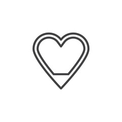 Love level line icon. linear style sign for mobile concept and web design. Love heart level outline vector icon. Symbol, logo illustration. Pixel perfect vector graphics