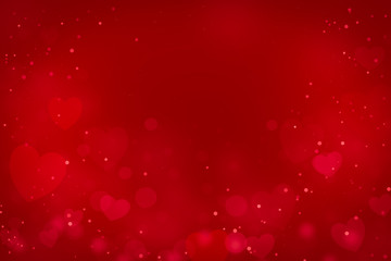 Hearts as background.Valentines day concept