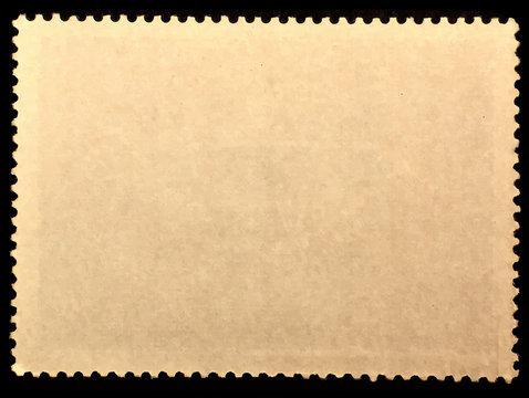 Old grunge postage stamp reverse side.Template for graphic designers.Vector illustration