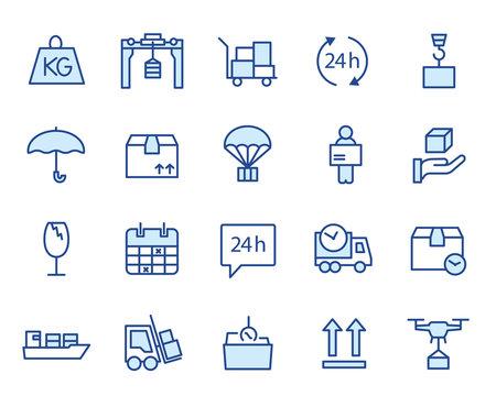 Delivery, Logisitk und Transport Vector Icon Illustration