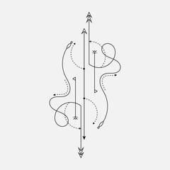 Line Dot Tattoo Design