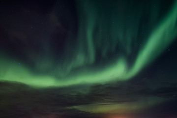 Aurora borealis, Northern lights dancing in the sky