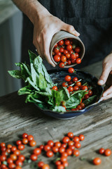 Fresh organic cherry tomato salad