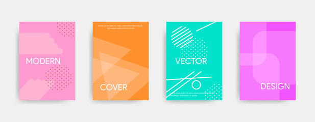Modern abstract cover design with lines and dots. Vector illustration suitable for banners, brochures, flyers.