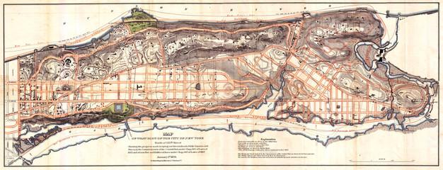 1870, Knapp Map of Northern Manhattan, New York City, Harlem, Washington Heights, Inwood