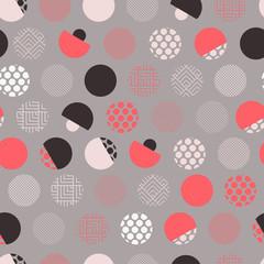 points éclectiques de modèle sans couture de style japonais fument rouge