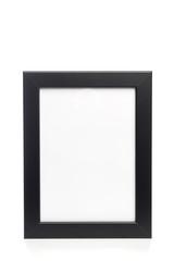 black photo frame isolated on white background.