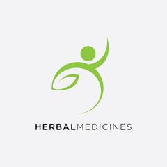 Medical cross and herbal leaf. medicine pharmacy logo. medical health symbol. herbal health care logo. nature logo