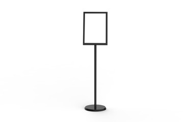 A3 Poster Stand Floor Display, Stands Snap Frame, Poster Board, Menu Holder, Advertisement Sign Stand On White Background, 3D Illustration