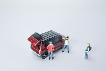 mini of figure photo the model with car