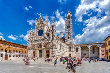 Aluminium Prints Historical buildings Höhepunkte der Toskana: Dom zu Siena